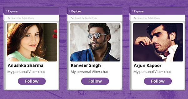 Viber Chat update – Today follow Celebrity chats effortlessly